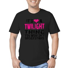 Twilight Thing v2 Men's Fitted T-Shirt (dark)