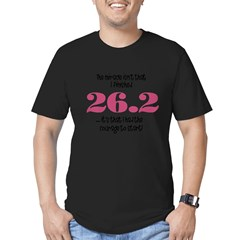 26.2 Courage to Star Men's Fitted T-Shirt (dark)