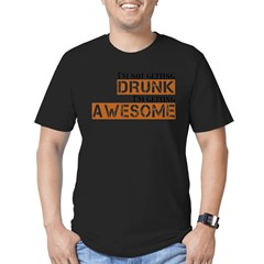 Drunk Awesome Men's Fitted T-Shirt (dark)