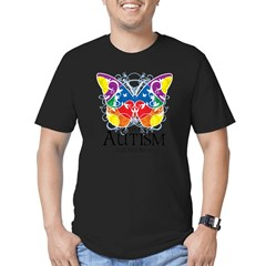Autism Butterfly Men's Fitted T-Shirt (dark)