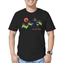 Ski Lake Tahoe Men's Fitted T-Shirt (dark)