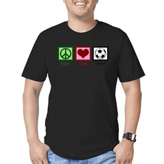 Peace Love Soccer Men's Fitted T-Shirt (dark)