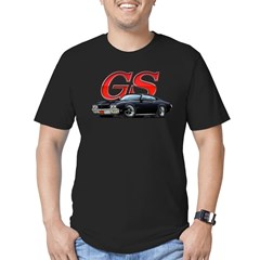 Black Skylark GS Men's Fitted T-Shirt (dark)