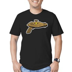 Brown Ray Gun Men's Fitted T-Shirt (dark)