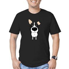 Big Nose/Butt Border Collie Men's Fitted T-Shirt (dark)