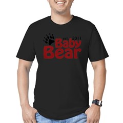 Baby Bear Est 2011 Men's Fitted T-Shirt (dark)