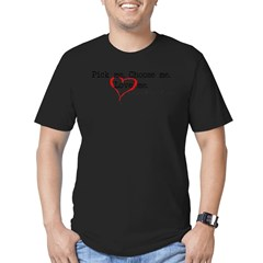 Pick Me - Derek Meredith Men's Fitted T-Shirt (dark)