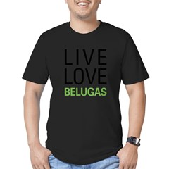 Live Love Belugas Men's Fitted T-Shirt (dark)