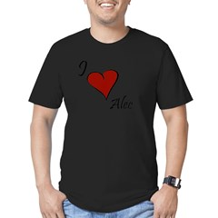 I love Alec Men's Fitted T-Shirt (dark)