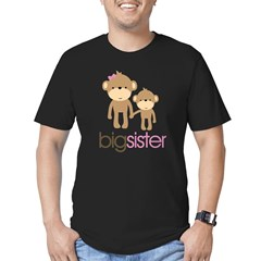 Monkey Big Sister Men's Fitted T-Shirt (dark)