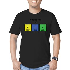 Chemistry is Fun Men's Fitted T-Shirt (dark)