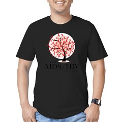 AIDS/HIV Tree Men's Fitted T-Shirt (dark)