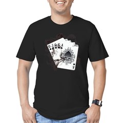 Smokin' Royal Flush Men's Fitted T-Shirt (dark)
