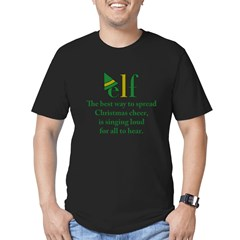 Elf Christmas Cheer Men's Fitted T-Shirt (dark)