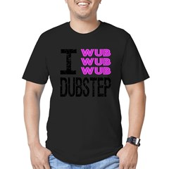 I Wub Dubstep Pink Men's Fitted T-Shirt (dark)