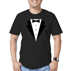 Minimalist Funny Tuxedo Men's Fitted T-Shirt (dark)