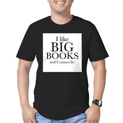 I LIke Big Books Men's Fitted T-Shirt (dark)