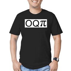 Occupy (o q pi) Men's Fitted T-Shirt (dark)