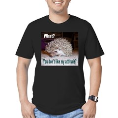 My Attitude Hedgehog Ash Grey Men's Fitted T-Shirt (dark)