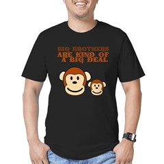 BIG BROTHER monkey Men's Fitted T-Shirt (dark)