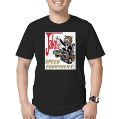 JAKE SPEED LARGE Men's Fitted T-Shirt (dark)