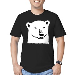 Andy the polar bear plain black Men's Fitted T-Shirt (dark)