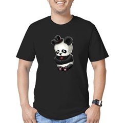 Sad Panda Men's Fitted T-Shirt (dark)