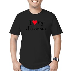 I LOVE MY Chiweenie Men's Fitted T-Shirt (dark)