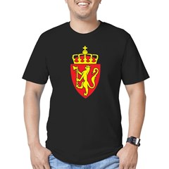 Norway Coat Of Arms Men's Fitted T-Shirt (dark)