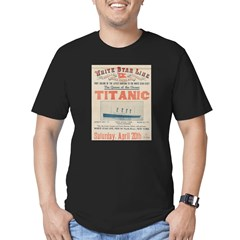 Titanic Advertising Card Men's Fitted T-Shirt (dark)