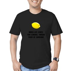 Lemon Throw Men's Fitted T-Shirt (dark)