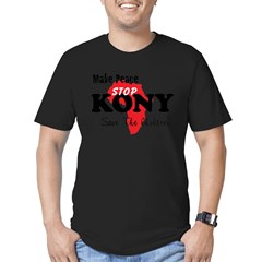 Stop Kony 2012 Men's Fitted T-Shirt (dark)