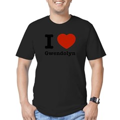 I love Gwendolyn Men's Fitted T-Shirt (dark)