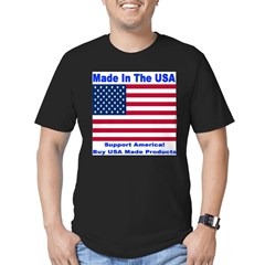 Made In The USA Men's Fitted T-Shirt (dark)