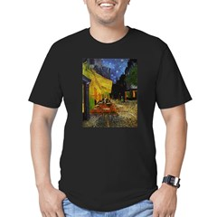 Van Gogh Cafe Terrace At Night Men's Fitted T-Shirt (dark)