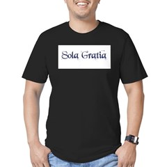Sola Gratia Men's Fitted T-Shirt (dark)