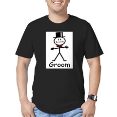 stick figure Ash Grey Men's Fitted T-Shirt (dark)