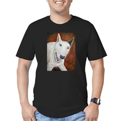 A Bull Terrier Ash Grey Men's Fitted T-Shirt (dark)