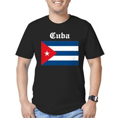 Cuban Flag Men's Fitted T-Shirt (dark)