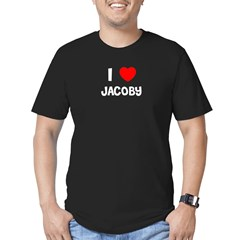 I LOVE JACOBY Black Men's Fitted T-Shirt (dark)