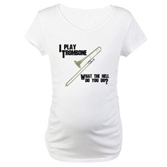 Trombone Attitude Plus Size Scoop Neck T-Shirt Maternity T-Shirt
