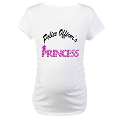 Police Officer's Princess Maternity T-Shirt