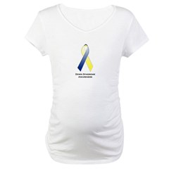 Down Syndrome Awareness Ribbon 2 Maternity T-Shirt