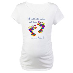 Footprints on your heart Maternity T-Shirt