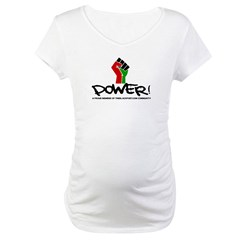 Women's Plus Size V-Neck Dark Black Power Shirt Maternity T-Shirt