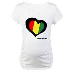Rasta Hear Maternity T-Shirt