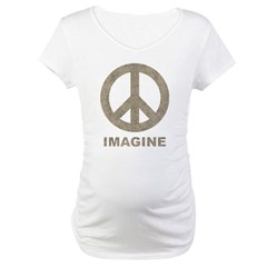 Vintage Imagine Peace Maternity T-Shirt