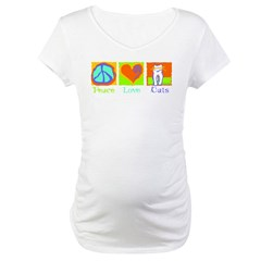 Peace Love Cats Maternity T-Shirt