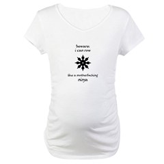 Rowing Ninja Maternity T-Shirt