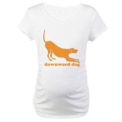 Downward Facing Dog Maternity T-Shirt